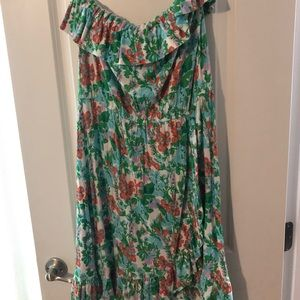 LillyPulitzer Strapless Ruffle Dress